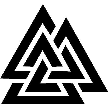 Samunshi Aufkleber Vegvisir Mit Runen 3 Vikings Wikinger Für Auto Motorrad In 11 Größen Und 25 Farben 15x15cm Schwarz Küche Haushalt