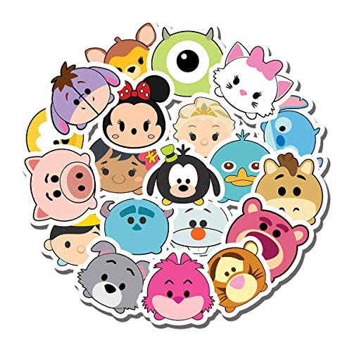 20 PCS Stickers Pack Dis-ney Aesthetic Tsum Vinyl Tsum Colorful Waterproof for Water Bottle Laptop Scrapbooking Luggage Guitar Skateboard