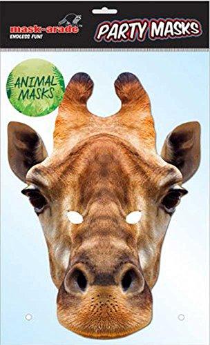 Empire Interactive Masque Girafe Animaux – Carton Brillant de qualité avec Trous pour Les Yeux