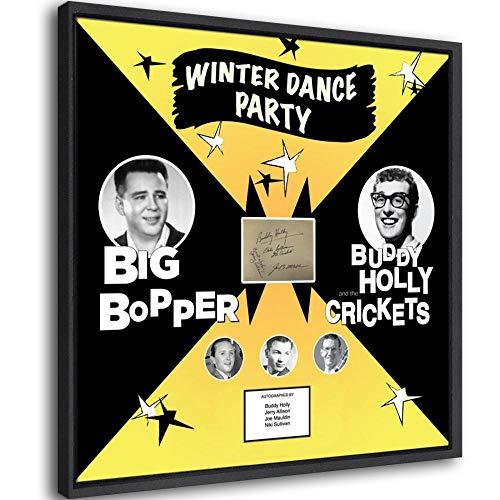 Póster enmarcado con autógrafo de Buddy Holly and The Crickets para decoración de dormitorio