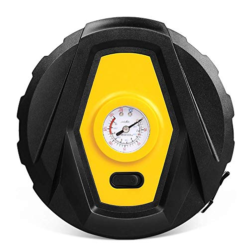 Dmqpp Draagbare lucht-rubberen bandenpomp, 12 V, met lcd-scherm, led-luchtpomp voor de auto met 3,6 meter stroomkabel, voor auto-fiets, motorfietskogel Pointer