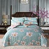 Patrón simple Cubierta de edredón cepillado y funda de almohada de tres o cuatro piezas de hojas de cama,dormitorio de la decoración del dormitorio del estudiante,ropa de cama-Usted_1.2mbed_(3pcs)