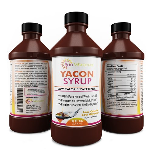 100% Pure Organic YACON Syrup, Premium Raw (Non-GMO), Dr Recommended for Weight Loss, Metabolism Booster   Certified Organic with NO Preservatives or Additives, Natural Sweetener 8 oz