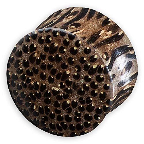 viva-adorno 1 Piezas Double Flared Flesh Plug Tunnel de Madera Varios Tipos de Madera a Elegir Tamaño 2-30mm WP1 - Madera de Palma Oscuro