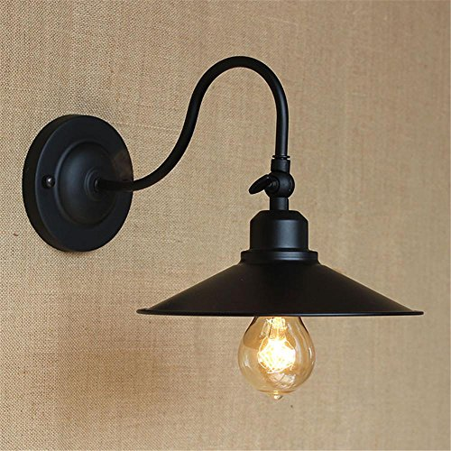 NIHE E27 industrie antique vent en fer forgé européen mur rétro lampe chambre minimaliste personnalité créative