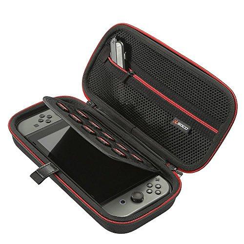 RLSOCO Funda de Juego para Nintendo Switch Console y Accessories, con 10 Tarjetas De Juego Ranuras