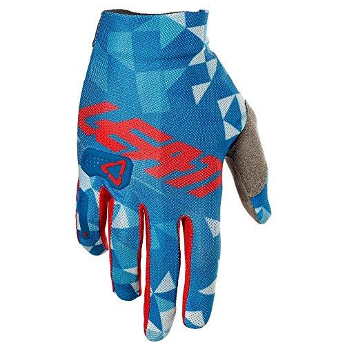 Leatt GPX 2.5 X-Flow - Guantes de motocross (talla X), color azul y rojo