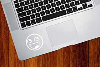 """MacBook 対応 アートステッカー エピック笑顔 """"Awesome Face Epic Smiley"""" - Trackpad / Keyboard  並行輸入品 White"""