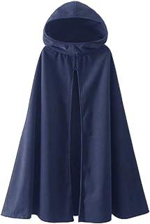 Fantasy Closet Women's Hooded Cape Mid-Length Split Front Cloak