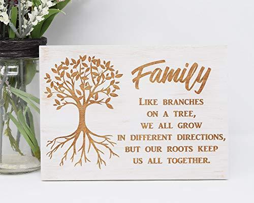 Toll2452 Señal de madera familiar con texto en inglés