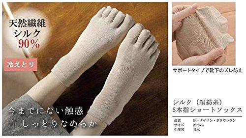 M&MSOCKS(エムアンドエムソックス)『シルク絹紡糸5本指ショートソックス』