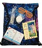 Just.Ethereal Festival Set Music Concert Funky Kit con mochila con cordón en la espalda, lentes de fiesta, glowsticks, impermeable poncho, cepillo de dientes + mini pasta