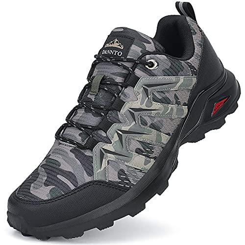 Dannto Men Hiking Shoes Trail Running Sneakers Outdoor Walking Trekking Cross Training(B-Camo,EU43,10)