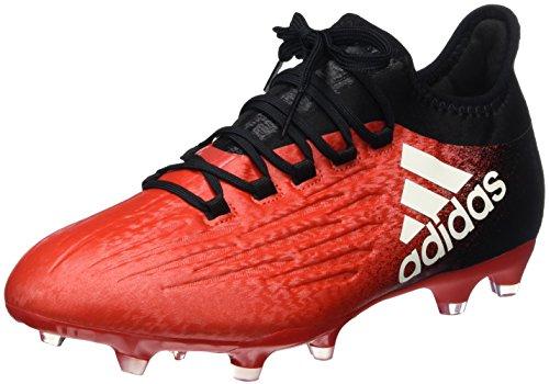 adidas X 16.2 Fg, Scarpe da Calcio Uomo, Rosso (Red/ftwr White/core Black), 40 EU