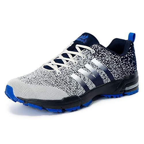 LEKANN 205 - Zapatillas deportivas para hombre, tallas grandes, talla 41-50 EU, color Gris, talla 44 EU