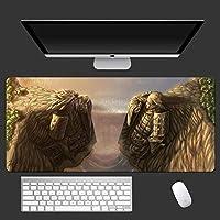 鼠标垫 鸣人动漫战地面速度游戏 哑光橡胶锁边游戏桌用电脑垫 900x400x3 Uchiha Sasuke-Photo_Color_800x300mm