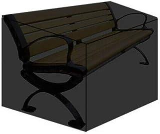 ONEVER Funda para el polvo del banco de jardín para 3 personas, resistente a los rayos UV, impermeable - a prueba de polvo - funda protectora del asiento - funda larga para la silla de exterior