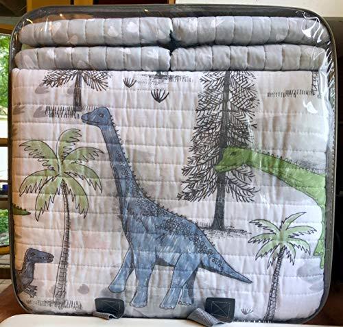 Max Studio Home Kids Dinosaurs Full Size Quilt Set (Dinosaur Prehistoric) 7-pc Set Includes: Full Quilt, Shams, Full Sheet Set
