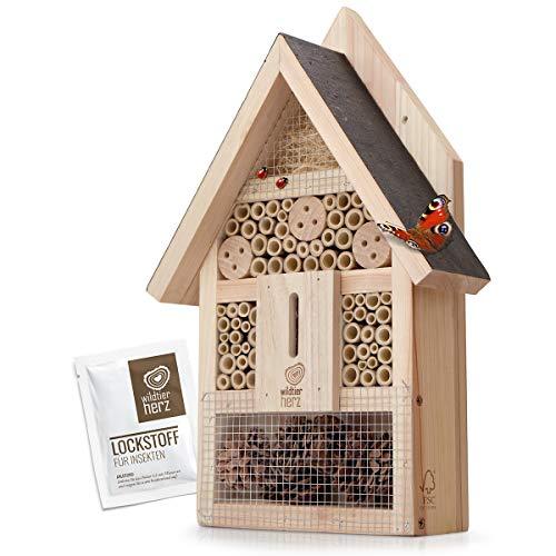 wildtier herz Hôtel à Insecte en Bois - Imperméable et Résis