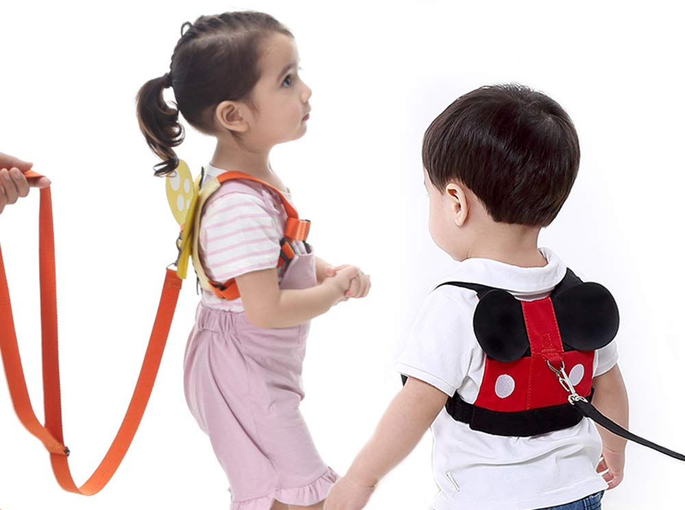 SIUONI Cute Design Toddlers Leash Anti-Lost Harness with Safety Leash Baby Leash Leash for Toddlers Wrist leashes Child Leashes Boys and Girls Perfect Gifts (Mickey)
