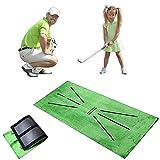 Dingjiuyan, tappetino da golf per allenamento da golf, ideale per famiglie, all'aperto, adulti, bambini, golf, formazione, gioco, regalo