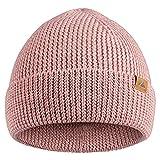 DANISH ENDURANCE Merino Beanie für Damen & Herren, mit recyceltem Polyester, Klassische Unisex Mütze, Weich, Warm, Stretchy, Nachhaltig (Rosa)