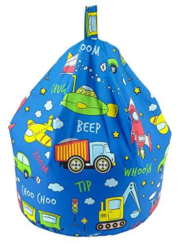 Better Dreams Childrens Bean Bags 9 Cool Designs 52cm x 52cm x 60cm High (Cars and Toys)