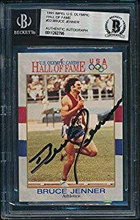 Bruce Jenner Olympics Signed 1991 Impel U.S. Olympic HOF Card #33 Beckett 143375 - Beckett Authentication