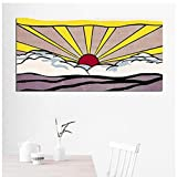 ART Roy Lichtenstein carteles abstractos arte pop lienzo pintura cuadros de arte de pared para sala de estar tamaño grande-50x100 cm x1 sin marco