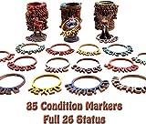 Byhoo Dungeon & Dragons Abstandsmarker DND-Status Ringe für Miniaturen, 85-teilige farbcodierte Tabletop-Gaming-Marker RPG-Tracking-Zubehör für Zauber, magische Verhexungen, Effekte und Fallen