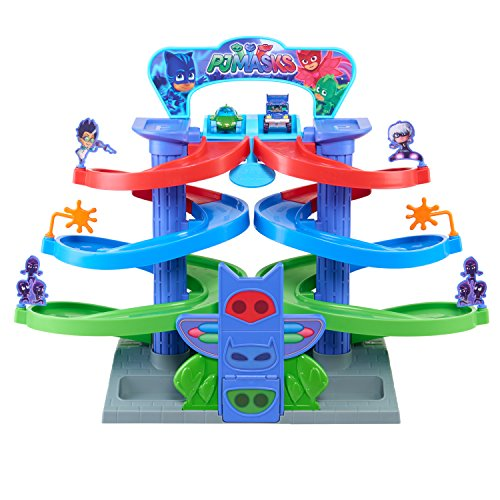 PJ Masks Spiral Die Cast Playset, Multi-color, Model:24891