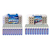 ACDelco AAA Batteries, Maximum Power Super Alkaline Battery, 60 Count (Pack of 1) & 40-Count AA Batteries, Maximum Power Super Alkaline Battery, 10-Year Shelf Life, Recloseable Packaging