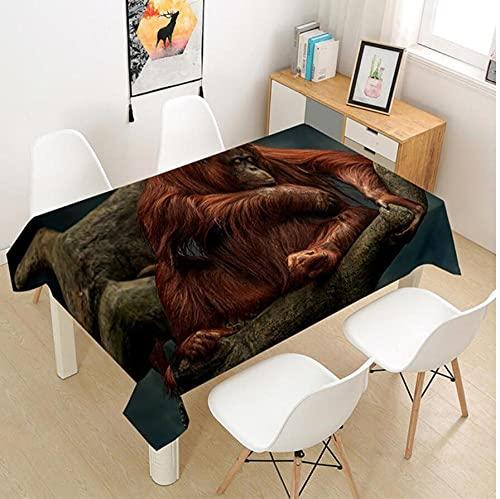 Yqgdss Animal Gorila Mantel 3D Diseño De Cocina Mesa De Comedor Mesa De Comedor Decoración De Cocina Comedor Familiar Actividades Interiores Al Aire Libre 120x140cm