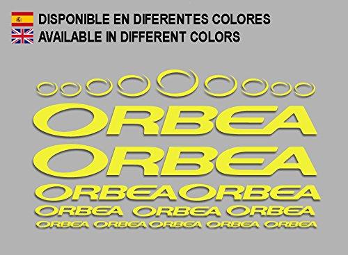 Ecoshirt FY-H23W-RFQV Pegatinas Orbea F208 Stickers Aufkleber Decals Adesivi Bicycle Bike MTB BTT, Amarillo