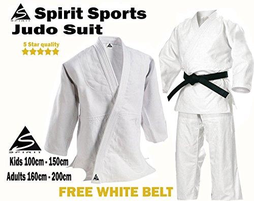 Entrenamiento de Judo Gi 100% algodón. 550g–ideal para todos los estudiantes Excelente calidad Kids 110cm–150cm Adultos 160CM-200CM