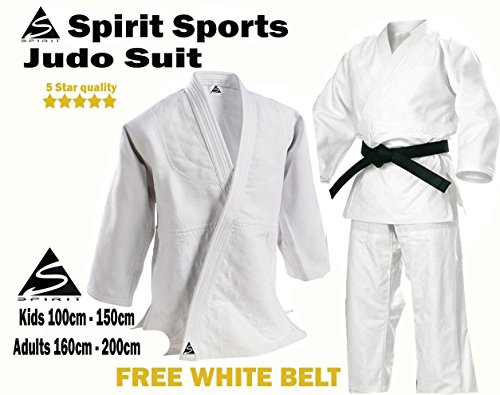 Spirit Traditional Judo Wrap Over Student Uniforme de algodón 0/130 cm