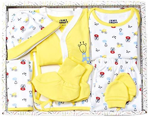 Amazon Brand - Jam & Honey Baby Boy's Cotton Clothing Set (BGP8-01_Multicolor 1_0-3 Months)