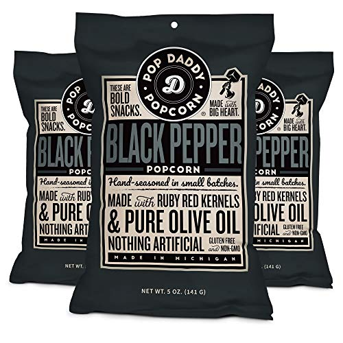 Pop Daddy's Gourmet Flavored Popcorn (Black Pepper, 3 Pack)