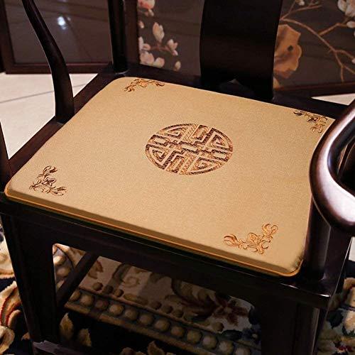 Cojines para Silla Cojín de la silla del palo de rosa china, futón cojín del asiento, no lavable Slip Pad Chair, Almohada tatami piso, sólida cojín de la silla de madera Almohadillas para sillas