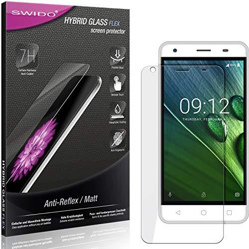 SWIDO Panzerglas Schutzfolie kompatibel mit Acer Liquid Z6E Bildschirmschutz Folie & Glas = biegsames HYBRIDGLAS, splitterfrei, MATT, Anti-Reflex - entspiegelnd