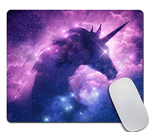 Amcove Unicorn Space Stars Purple Pink Mouse Mat Pad - Unicorn in Galaxy Nebula Cloud Personality Desings Gaming Mouse Pad 9.5 X 7.9 Inch (240mmX200mmX3mm)