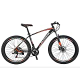 "EUROBIKE Aluminium Mountain Bike 29""/27.5' Front Suspension Daul Disc Brakes 21 Speed Mens Bicycle (27.5' Wheels Orange)"