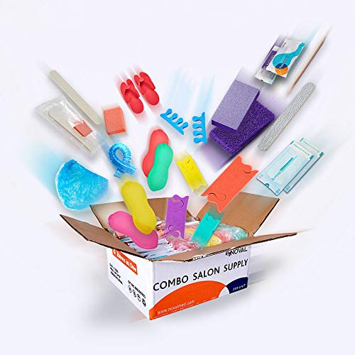48 Units of Each Item in 1 Box Disposable Nail Combo Set Including Pedicure Kit, Manicure Kit, Pedicure Liner, Pedicure Slippers, Toe Separator and Sterilization Pouch