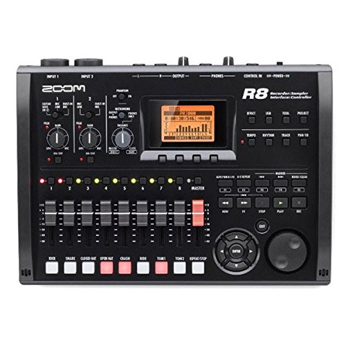 Zoom R8 Multi-Track Tabletop Recorder, Interface, Controller, 2 XLR Combo Inputs 8 Tracks, USB Audio Interface, Built In Stereo Condenser Microphones, Pad Sampler, Rhythm Machine