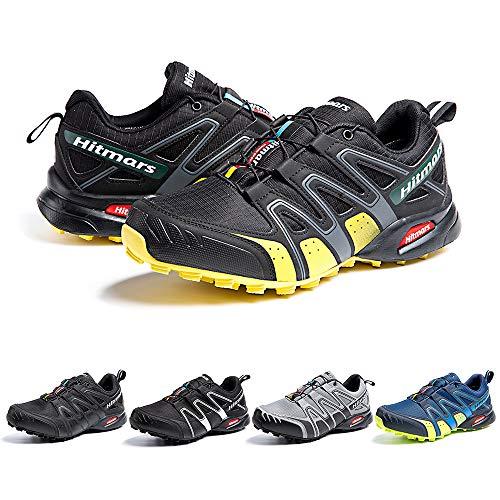 Scarpe da Trail Running Impermeabili Trekking Scarpe Corsa Ginnastica Esterno Antiscivolo Comode UnisexGiallo Taglia 43