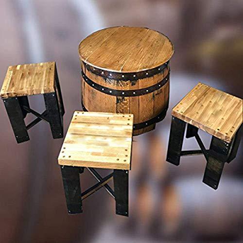 Cheeky Chicks Ltd Riciclato Robusto Quercia Whisky barile Jack Daniel' s Marchio Dundee Tavolo e 4sgabelli
