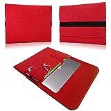 NAUC Laptop Tasche Sleeve Schutztasche Hülle Tablets MacBook Netbook Ultrabook Case kompatibel mit Samsung Apple Asus Medion Lenovo, Farben:Rot, Für Notebook:Archos 133 Oxygen