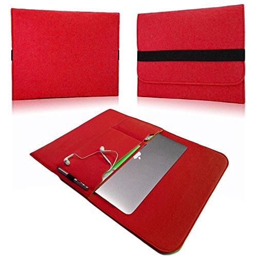 NAUC Laptop Tasche Sleeve Schutztasche Hülle Tablets MacBook Netbook Ultrabook Hülle kompatibel mit Samsung Apple Asus Medion Lenovo, Farben:Rot, Für Notebook:Sony VAIO VPC-Z21C5E