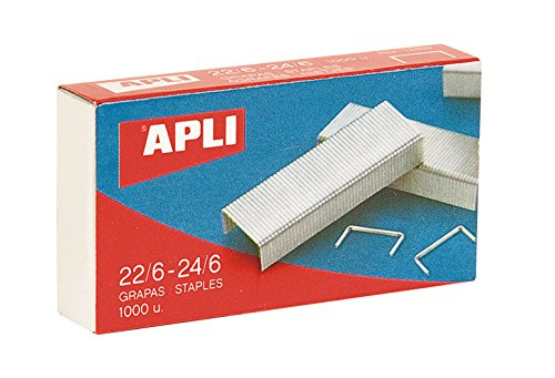 Apli Kids 13469 Pack De 1000 Grapas, 22/6 - 24/6
