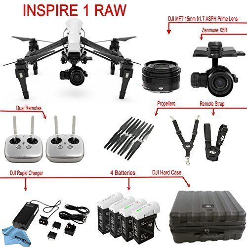 DJI Inspire 1 RAW Bundle with Zenmuse X5R, 4...